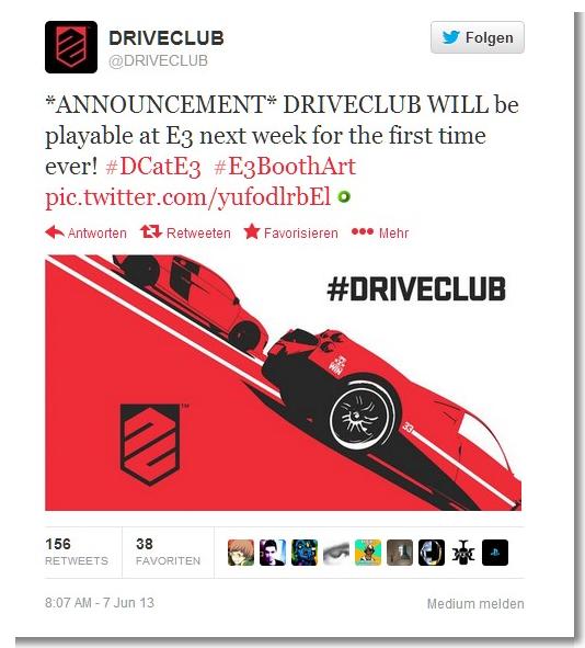 Spielbare Demo zu DriveClub auf der E3