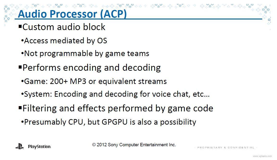 Gerücht: PlayStation 4 Audio-Prozessor Spezifikationen im Detail