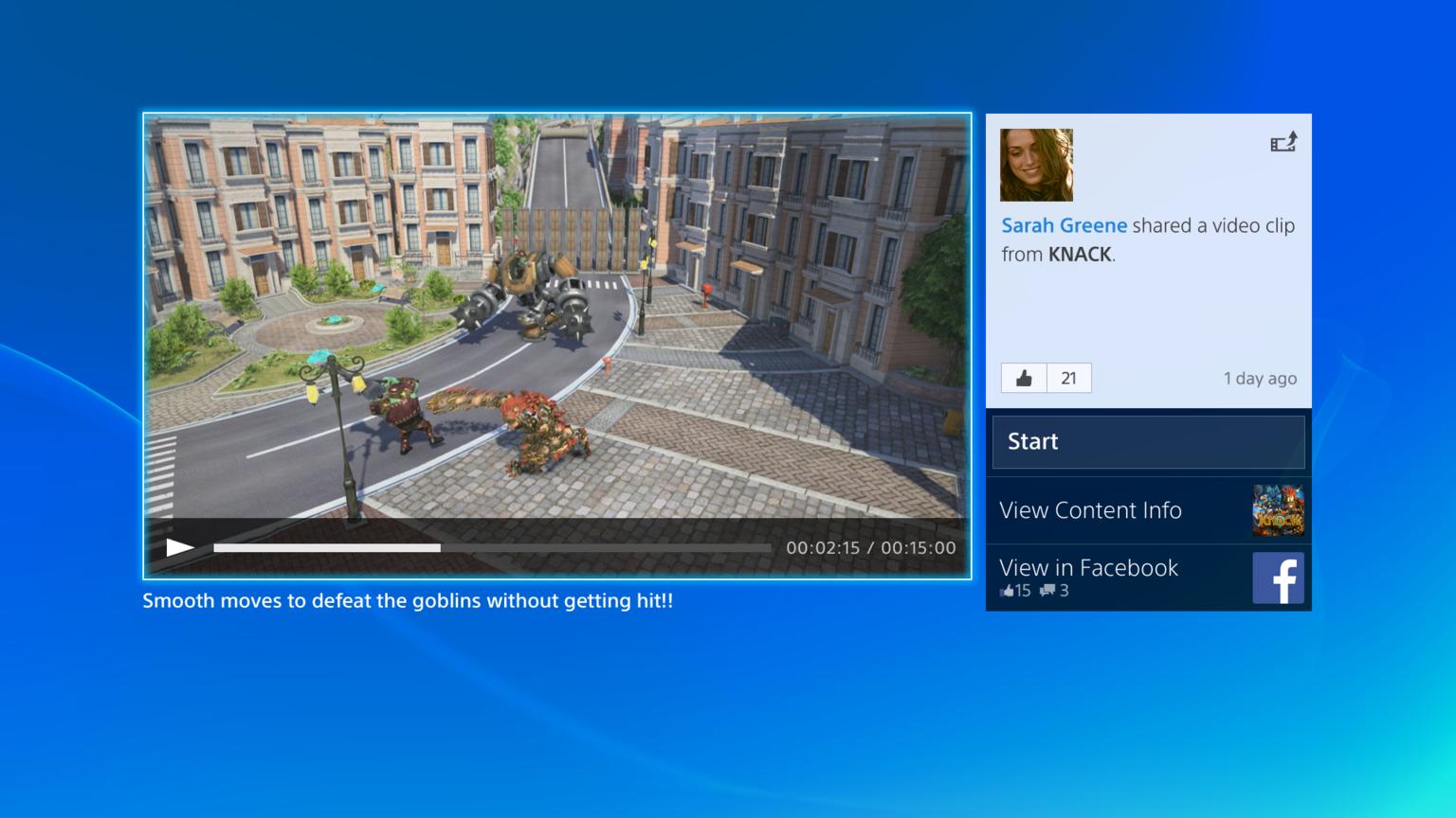 15 Minuten mit dem PlayStation 4 User Interface bei schlechter Videoqualität