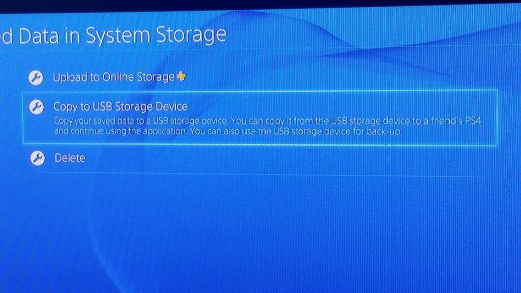 PS4 Savegames können auf USB Datenträger exportiert werden