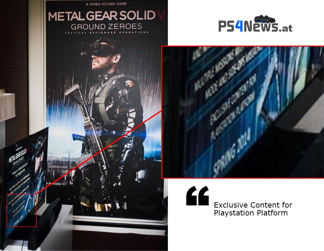 Metal Gear Solid 5 scheinbar mit exklusiven Inhalten für die PlayStation Plattform