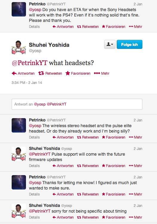 Yoshida: Pulse Headset Support weiterhin in Arbeit