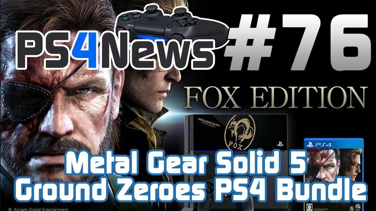 Metal Gear Solid 5 Ground Zeroes PlayStation 4 Bundle für Japan bestätigt – PS4 News