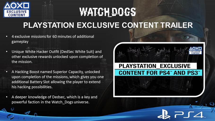 WatchdogsPlaystationExclusive