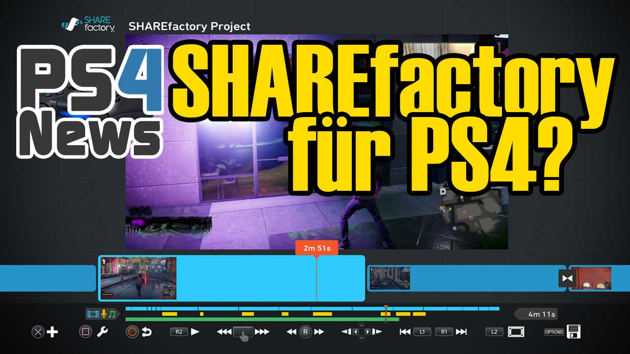 Playstation 4 Firmware Update 1.70 mit SHAREfactory und HDCP Off