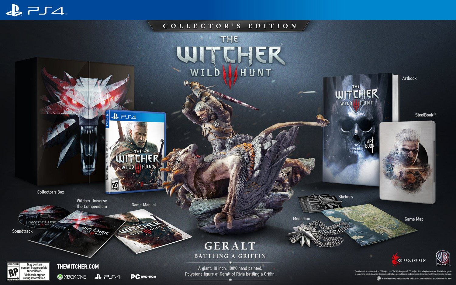 Das steckt in der Collectors Edition von The Witcher 3 Wild Hunt