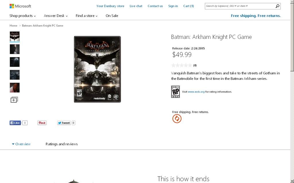 Batman Arkham Knight erscheint laut dem Microsoft Store am 28. Februar 2015