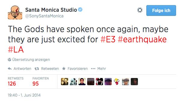Sony Santa Monica auf der diesjährigen E3 scheinbar mit einem neuen God of War-Ableger