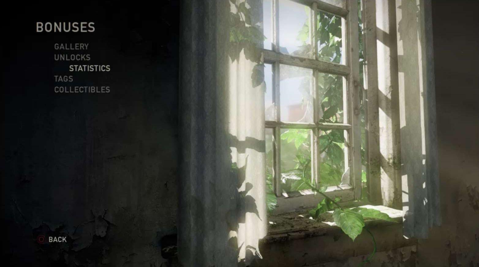 Das Menü von The Last of Us Remastered
