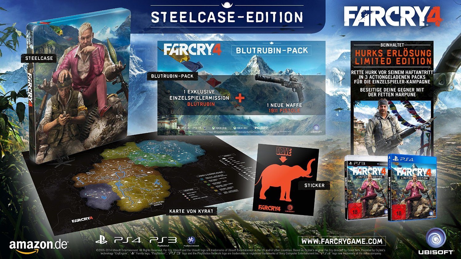 Far Cry 4 Steelcase Edition ab sofort bei Amazon