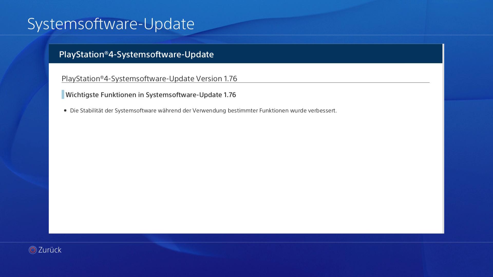 PlayStation 4 System Update 1.76 veröffentlicht