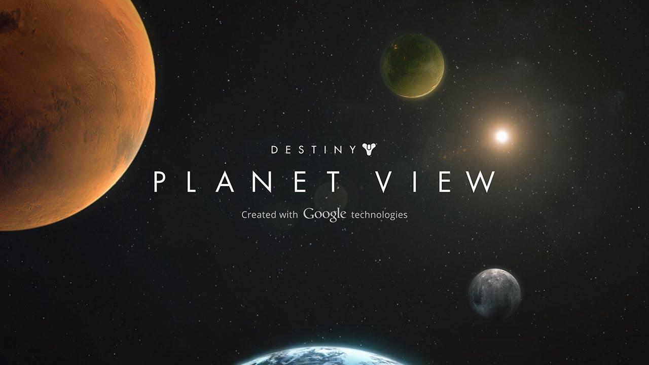 """Erkundet die Spielwelt von Destiny mit Googles """"Planet-View"""""""