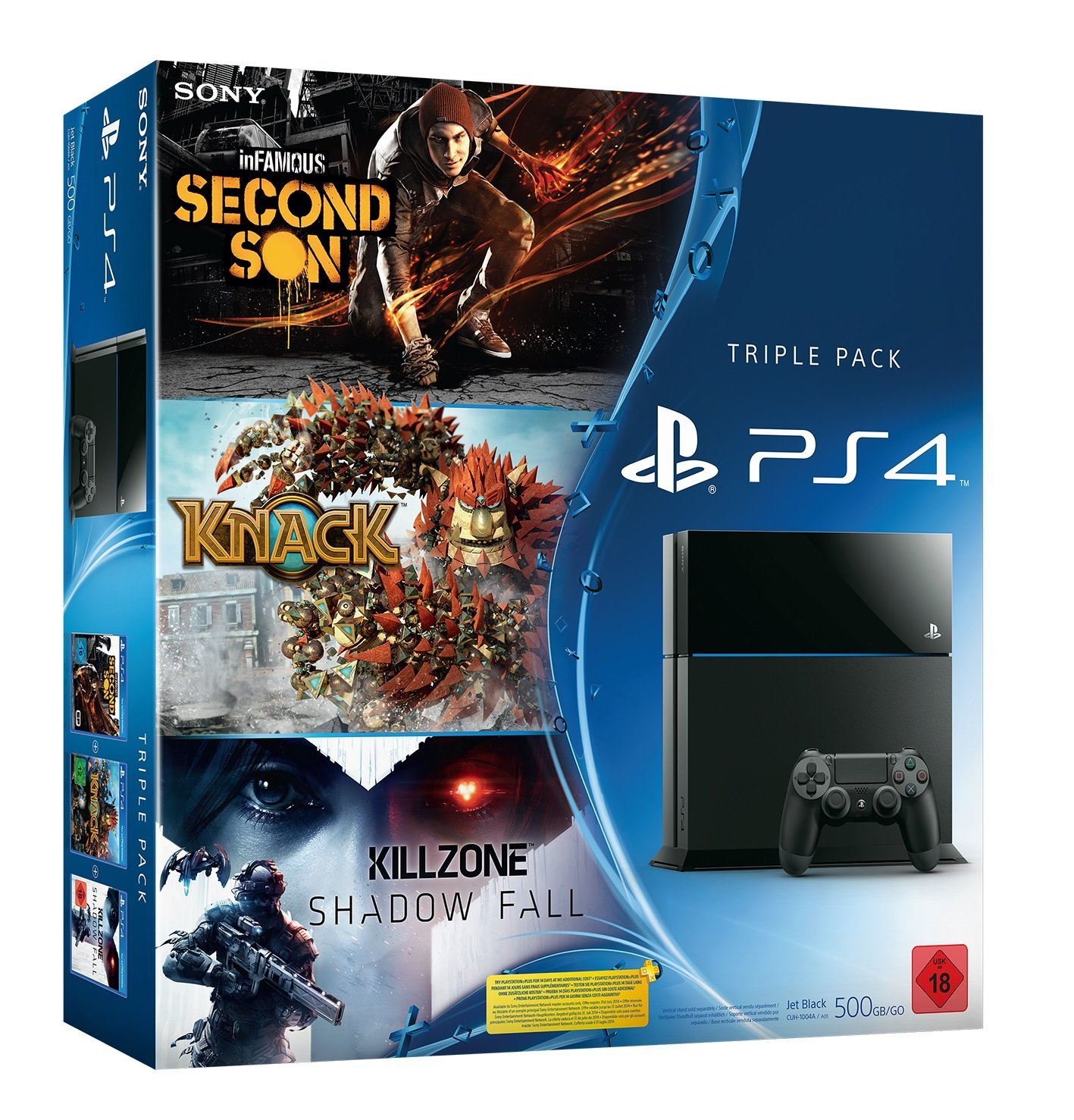 PlayStation 4 Triple Pack bei Amazon mit inFamous Second Son, Knack und Killzone Shadow Fall