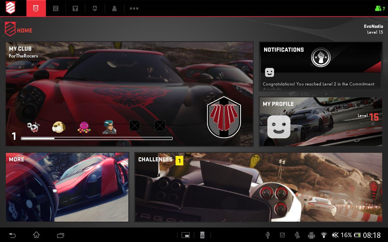 DriveClub Companion App für Android ein Schwergewicht