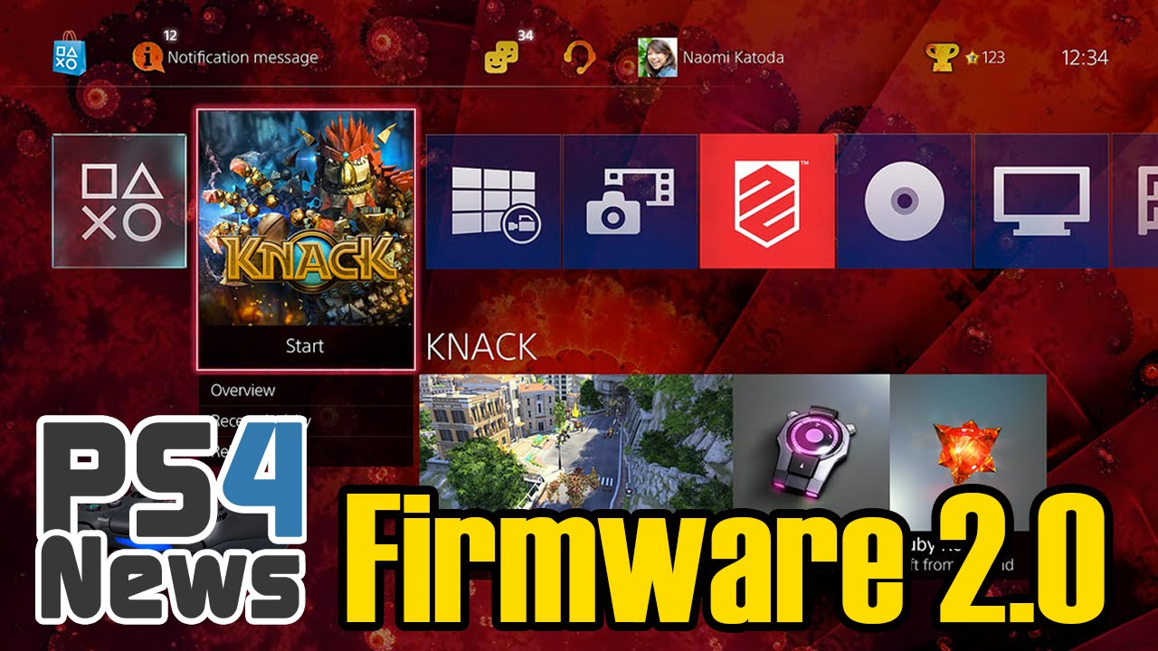 PlayStation 4 Firmware Update 2.0 Infos und Bilder
