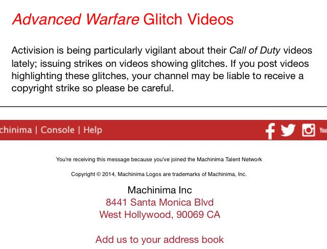 Activision zensiert Advanced Warfare Glitch Videos