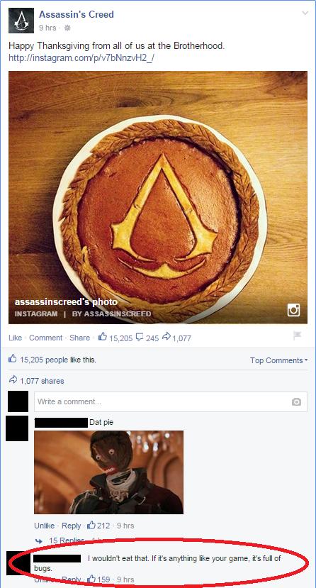Random Time! Assassin's Creed Facebook-Post geht nach hinten los