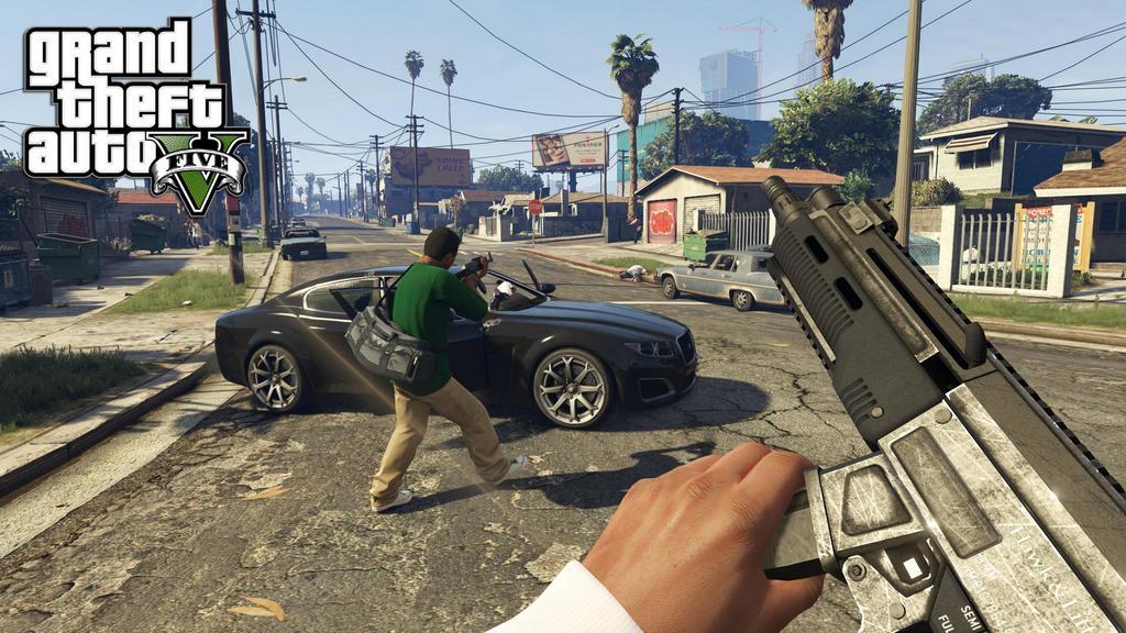 GTA 5 Gameplay-Video zeigt die First-Person Ansicht