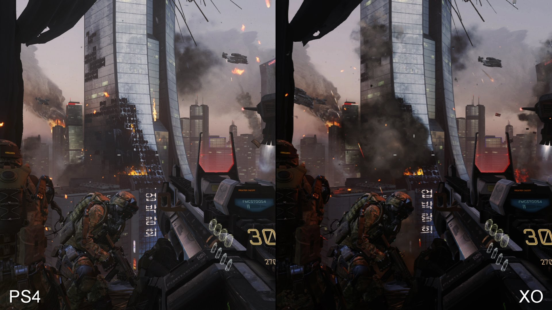 Call of Duty Advanced Warfare PS4 vs. Xbox One
