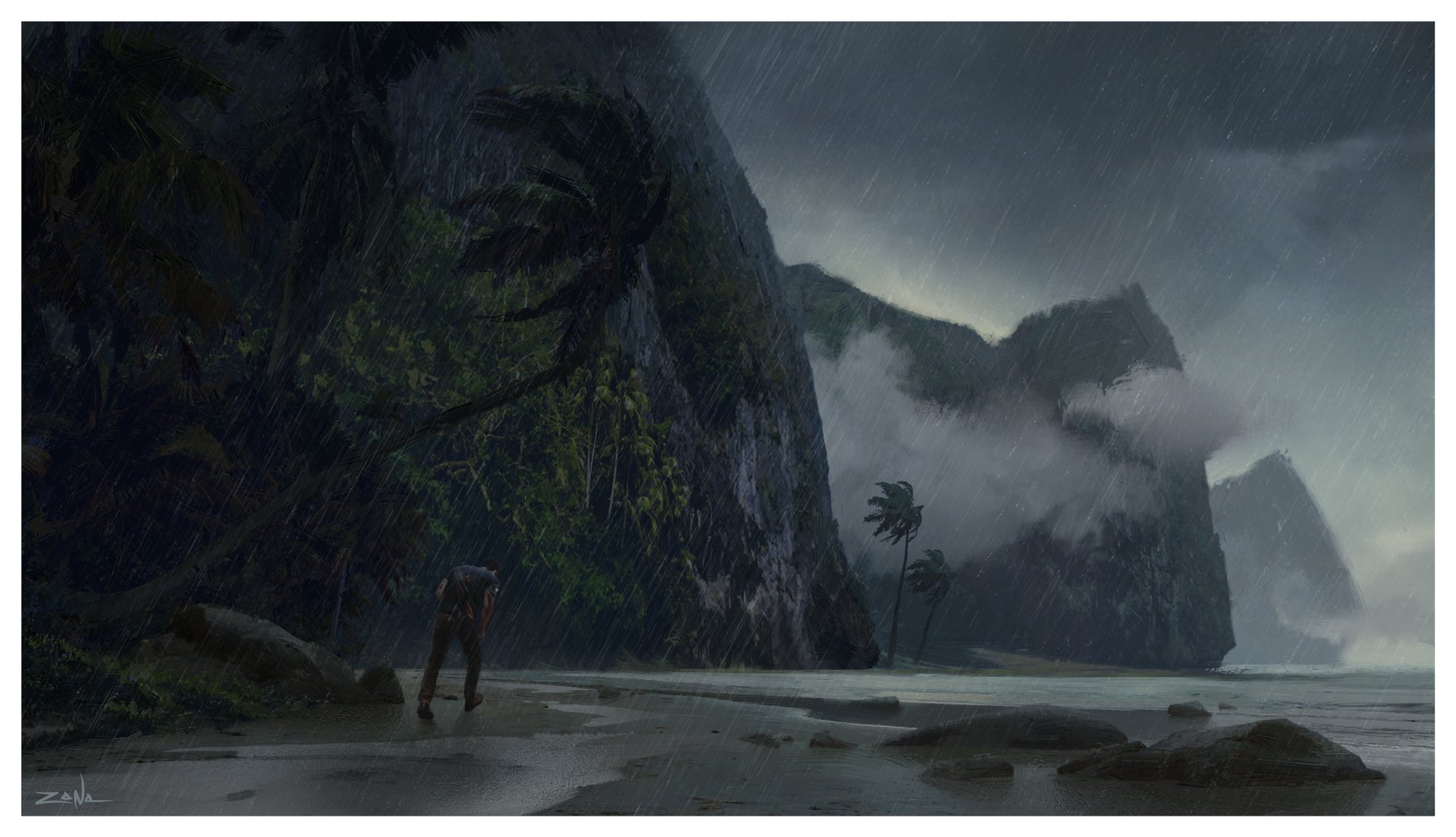 Random Time! Uncharted 4 Konzeptzeichnung