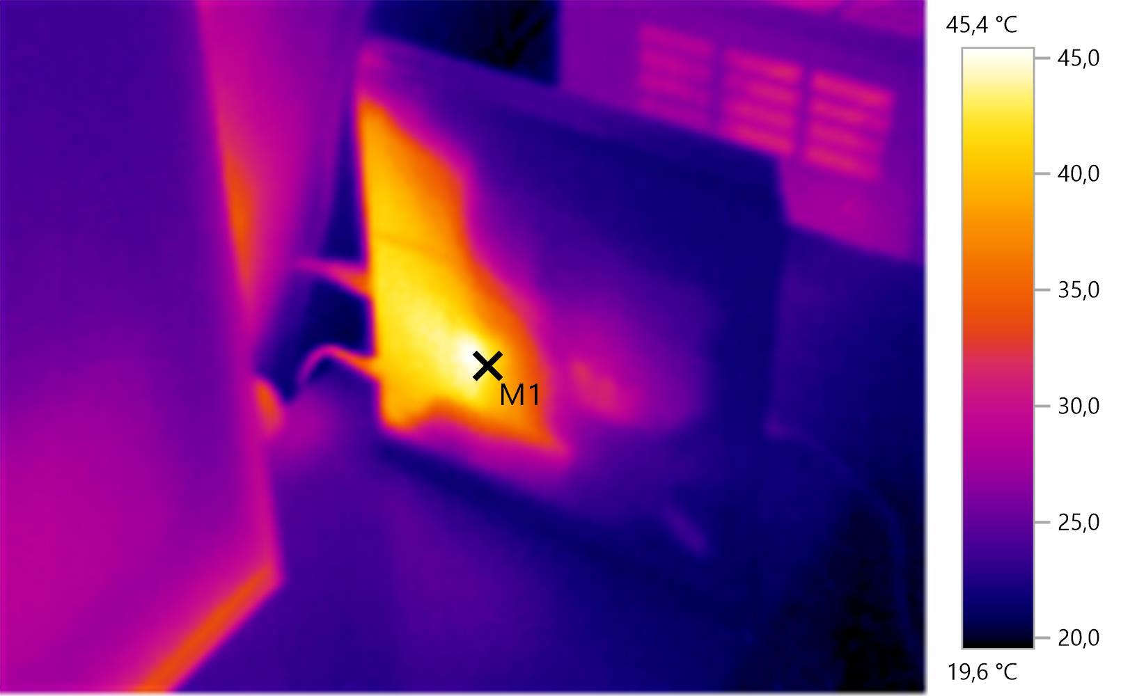 PlayStation 4 unter der Wärmebildkamera