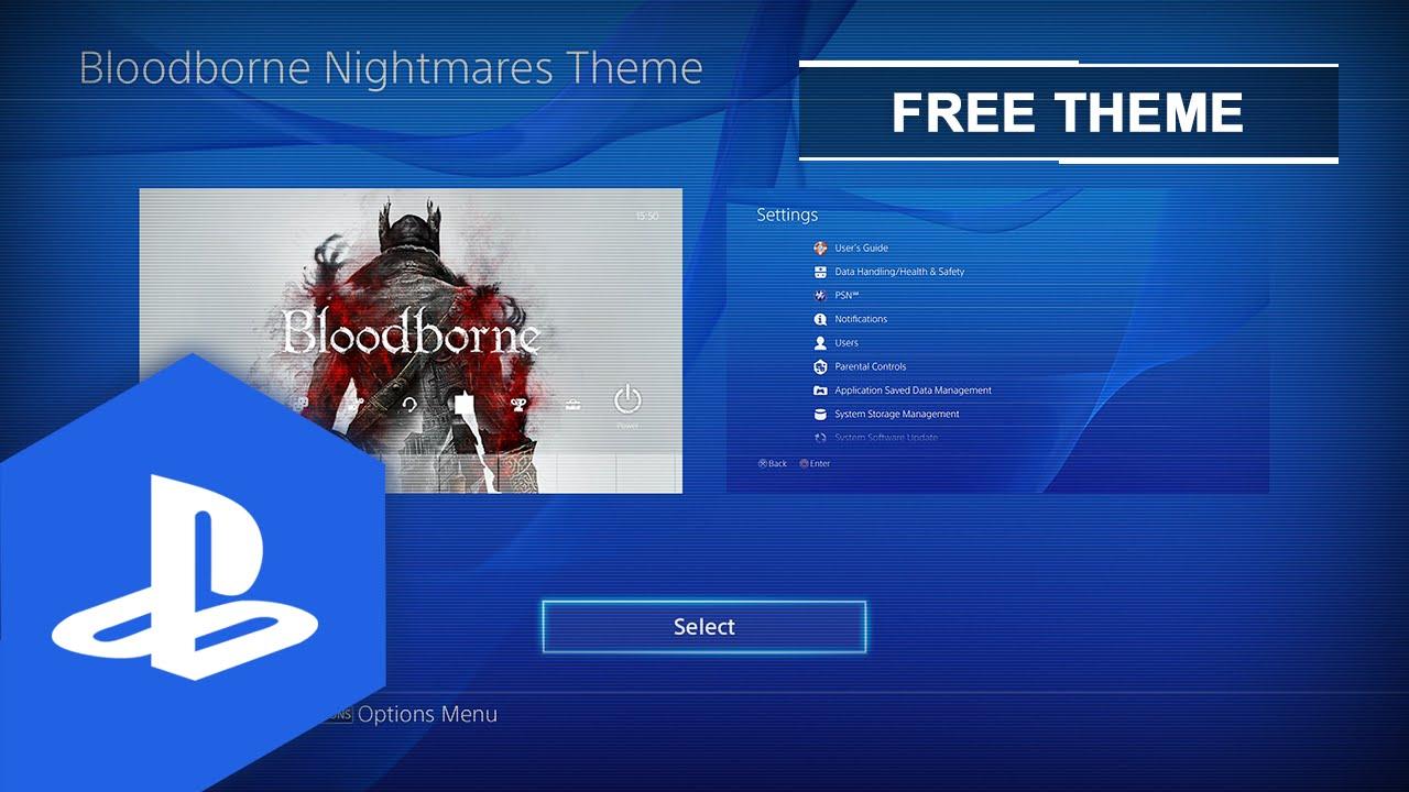So sieht das Bloodborne PS4 Theme aus