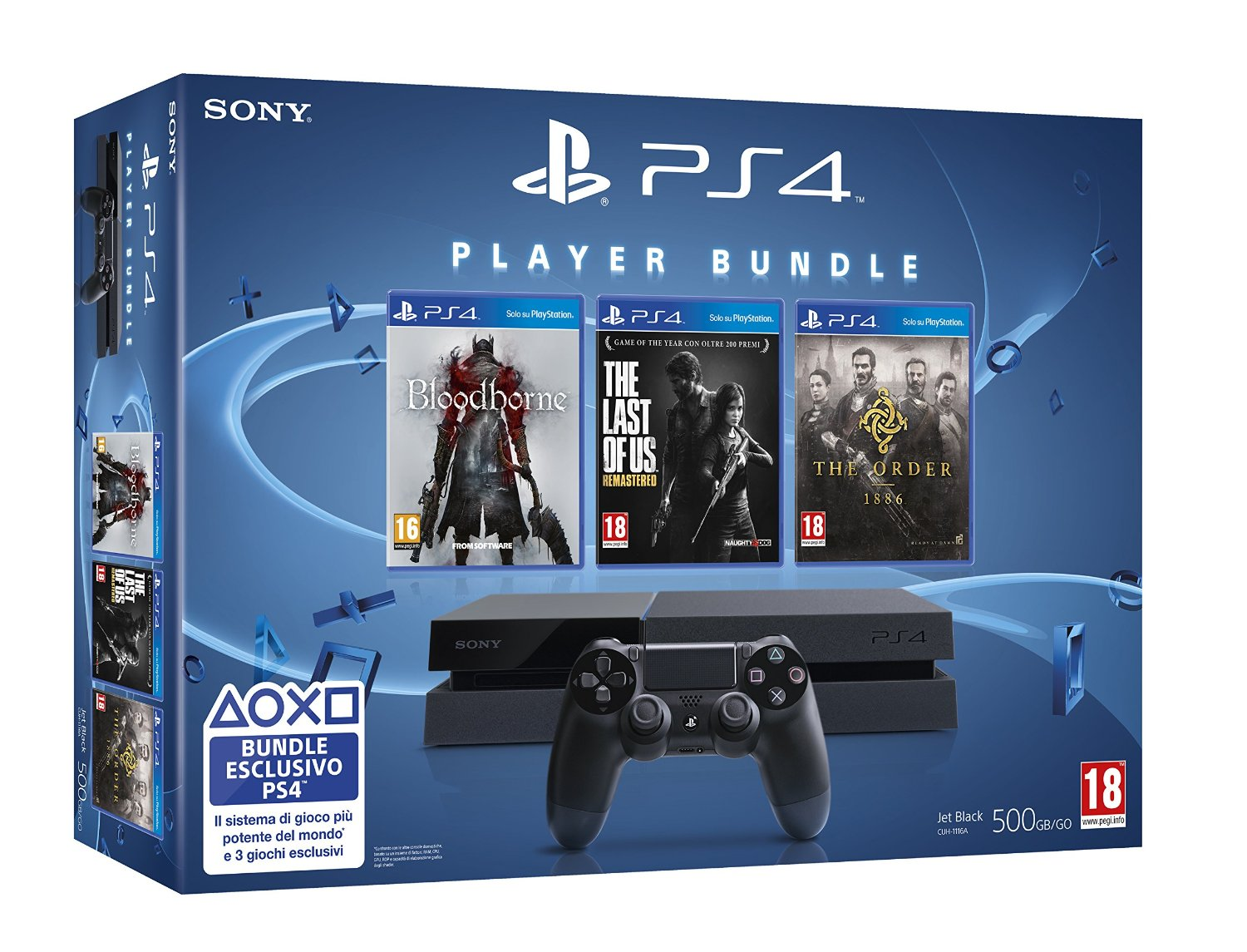 PlayStation 4 Bundle mit Bloodborne, The Order 1886 und The Last of Us