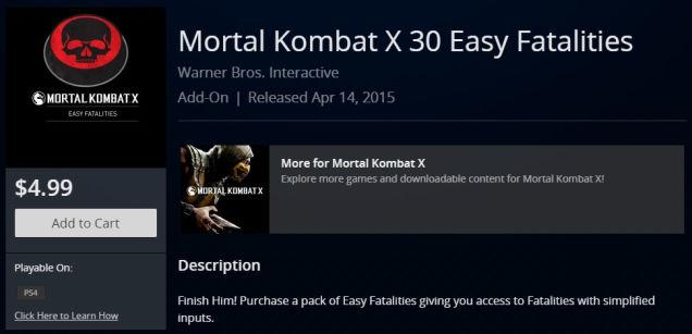 Mortal Kombat X: Einfache Fatalities können für bares Geld gekauft werden
