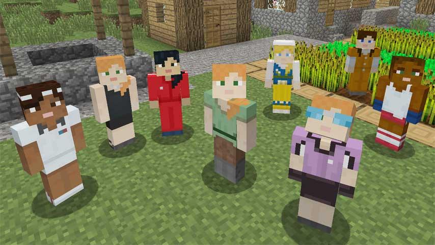 Minecraft bekommt weibliche Skins